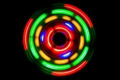 Cerchi al neon immagini stock