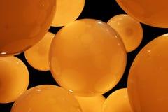 Cerchi ambrati Fotografia Stock