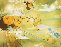 Cerchi arancioni Immagini Stock