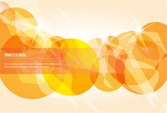 Cerchi astratti dell'oro Fotografia Stock