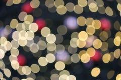 Cerchi astratti di Natale di Bokeh dello spazio leggero della copia Fotografia Stock