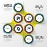 Cerchi astratti Modello di disegno moderno Concetto di Infographics Illustrazione di vettore Fotografie Stock Libere da Diritti
