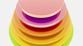 Cerchi astratti nei colori differenti su bianco illustrazione di stock
