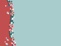 Cerchi bianchi e blu rossi Immagini Stock
