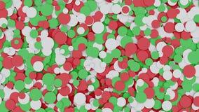 Cerchi bianchi e verdi rossi commoventi astratti archivi video