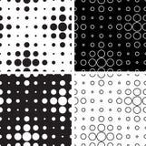 Cerchi in bianco e nero Fotografia Stock