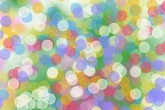 Cerchi blu astratti di Bokeh per il fondo di Natale Immagini Stock