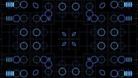 Cerchi blu, bolle ed equalizzatore astratto illustrazione vettoriale