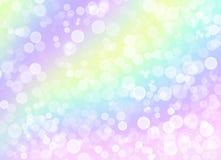 Cerchi brillanti bianchi su un fondo variopinto leggero illustrazione vettoriale