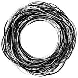 Cerchi casuali dello scarabocchio Cerchi concentrici in uno styl disegnato a mano royalty illustrazione gratis
