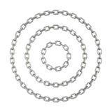 Cerchi a catena isolati su un fondo bianco illustrazione vettoriale