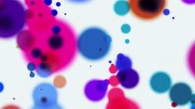 Cerchi colorati che volano sul fondo astratto bianco illustrazione vettoriale