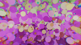 Cerchi colorati con sfuocatura dai lati Fotografie Stock