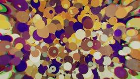 Cerchi colorati con sfuocatura dai lati Immagini Stock