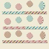 Cerchi colorati della carta Fotografie Stock Libere da Diritti