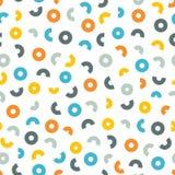Cerchi colorati e semicerchi su un fondo bianco Fotografie Stock