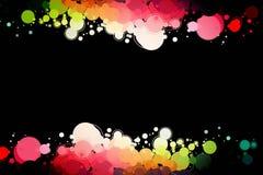 Cerchi colorati su un fondo nero royalty illustrazione gratis