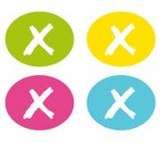 Cerchi Colourful con il piccolo incrocio Vettore royalty illustrazione gratis