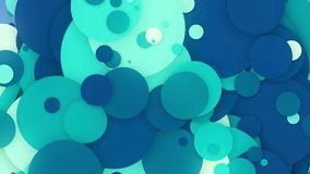Cerchi commoventi astratti nei colori blu e bianchi royalty illustrazione gratis