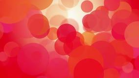 Cerchi commoventi rossi illustrazione di stock
