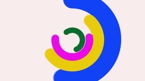 Cerchi concentrici astratti illustrazione vettoriale