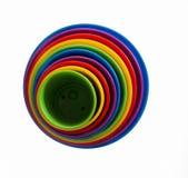 Cerchi concentrici colorati Fotografia Stock Libera da Diritti