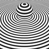 Cerchi concentrici con la sfera a strisce Fotografia Stock Libera da Diritti