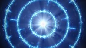 Cerchi concentrici dell'audio forma blu di Digital Fotografie Stock Libere da Diritti