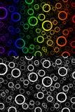 Cerchi del fondo di colore Fotografia Stock