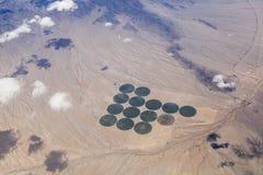 Cerchi del raccolto del deserto Immagini Stock Libere da Diritti