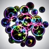 Cerchi del Rainbow illustrazione di stock