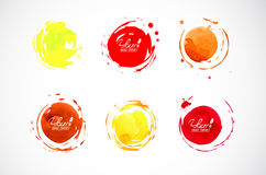 Cerchi dell'acquerello Fotografia Stock Libera da Diritti