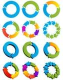 Cerchi della freccia Fotografia Stock Libera da Diritti