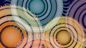 Cerchi dentellati colorati estratto che girano video video d archivio
