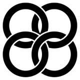Cerchi di collegamento, icona astratta degli anelli Concetto CI del collegamento illustrazione di stock