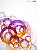 Cerchi di colore astratti di spirito della priorità bassa illustrazione di stock