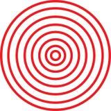 Cerchi di illusione Immagini Stock