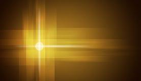 Cerchi di incandescenza sul fondo giallo di pendenza Fotografia Stock Libera da Diritti