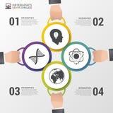 Cerchi di Infographics Modello di disegno moderno Illustrazione di vettore Immagine Stock Libera da Diritti