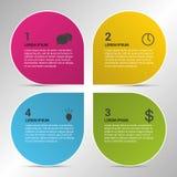 Cerchi di progettazione di Infographic sui precedenti grigi Fotografia Stock
