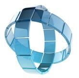 Cerchi di vetro Fotografia Stock