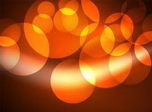 Cerchi di vetro d'ardore brillanti, modello futuristico moderno del fondo Immagine Stock