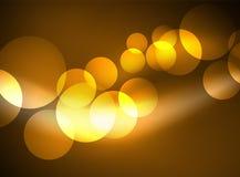 Cerchi di vetro d'ardore brillanti, modello futuristico moderno del fondo Fotografia Stock Libera da Diritti
