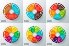 Cerchi di vettore con le frecce per infographic Fotografia Stock Libera da Diritti