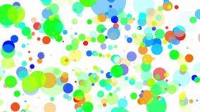 Cerchi di volo in vari colori su bianco illustrazione di stock