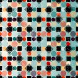 Cerchi e carta da parati del fondo di vettore di colore dei quadrati Immagini Stock Libere da Diritti