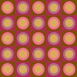Cerchi e collage retro dei quadrati Fotografia Stock