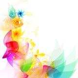 Cerchi e fiori royalty illustrazione gratis