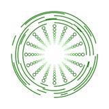 Cerchi e progettazione verdi moderni dell'icona delle sfere Fotografia Stock
