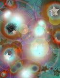Cerchi e stella immagini stock libere da diritti